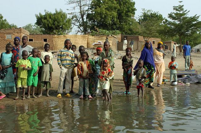Chad's oil fields continue to leach chemicals, create air pollution, and degrade Lake Chad. Photo credit: Carsen ten Brink, Flickr