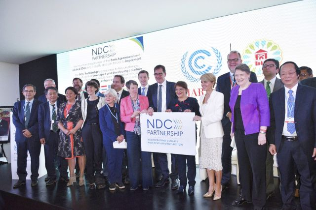 People at the launch of the NDC Partnership