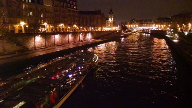 Paris at night during COP21. Photo credit: Deborah Zabarenko