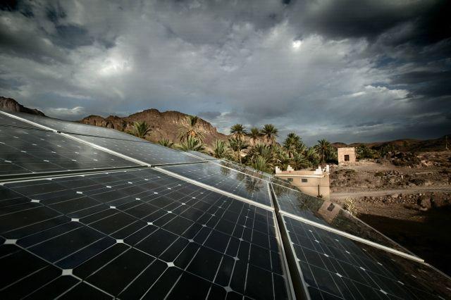 A solar array in Morocco