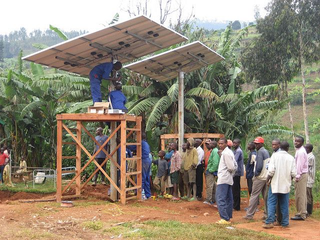 A solar installation in Kirambo, Rwanda. Photo credit: SolarEnima, Flickr
