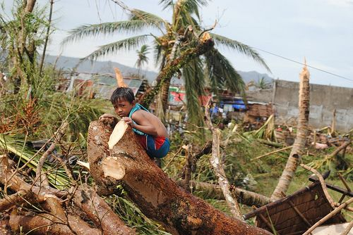 Typhoon Haiyan, the strongest tropical cyclone on record to make landfall, resulted in more than 6,000 deaths in the Philippines. Photo credit: Arlynn Aquino, EU/ECHO