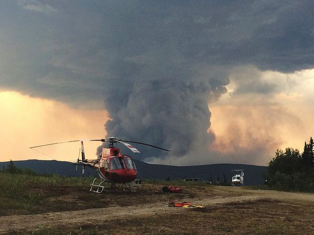 Fire northwest of Fairbanks, AK. Photo by USFS/Flickr