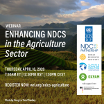 Webinar: Enhancing NDCs in the Agriculture Sector