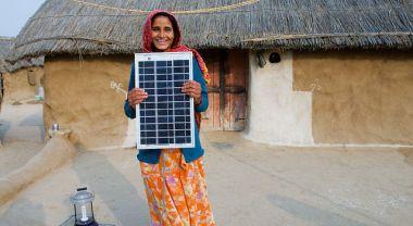 Legga village solar electrified by woman barefoot