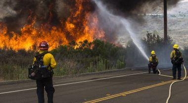 Fire in Pendleton, California
