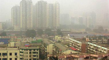 Haze of pollution in Beijing