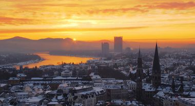 Dawn in Bonn, Germany