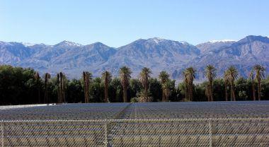 California solar plant.