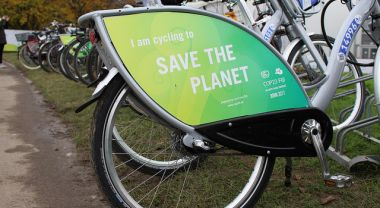 Bikes at COP23 in Bonn, Germany