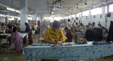 Garment factory in Dhaka, Bangladesh