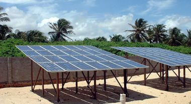 Solar panels in Baleia, Brazil.