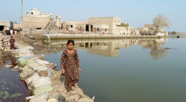 The impacts of a flood in Sindh Province, Pakistan. Photo credit: Magnus Wolfe-Murray, Department for International Development