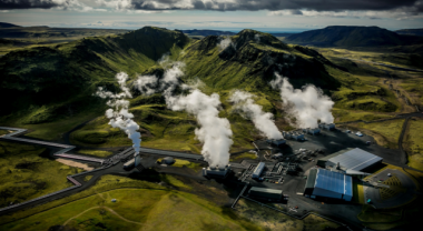 Hellisheiði Geothermal Power Plant in Iceland