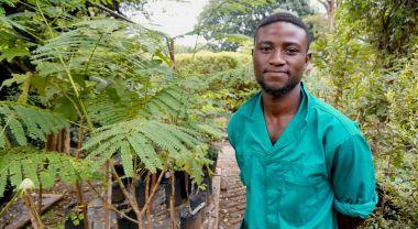 Malawian youth in garden