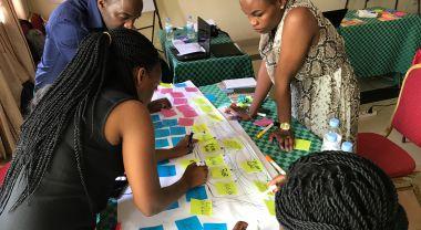 A social network analysis workshop underway. Credit: WRI/Kathleen Buckingham