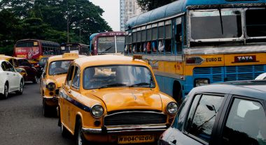 Traffic congestion in Calcutta, India. Photo by frederik_rowing/Flickr