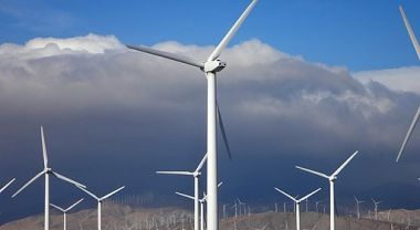 Wind turbines in southern California