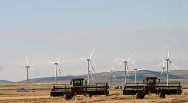 A new report calls on the world to invest at least $1 trillion a year in renewable energy, among other recommendations. Photo by David Dodge/The Pembina Institute