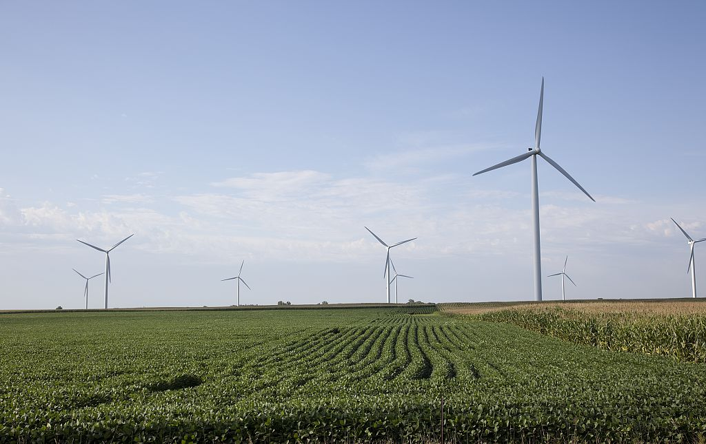 <p>Wind turbines in rural Missouri. Photo by Carol Highsmith/Library of Congress.</p>