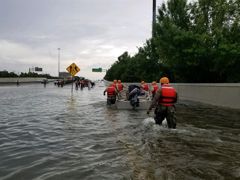 <p>Storms like 2017's Hurricane Harvey are moving slower, giving them more time to create significant damages. Photo by 1st Lt. Zachary West/Texas Army National Guard</p>