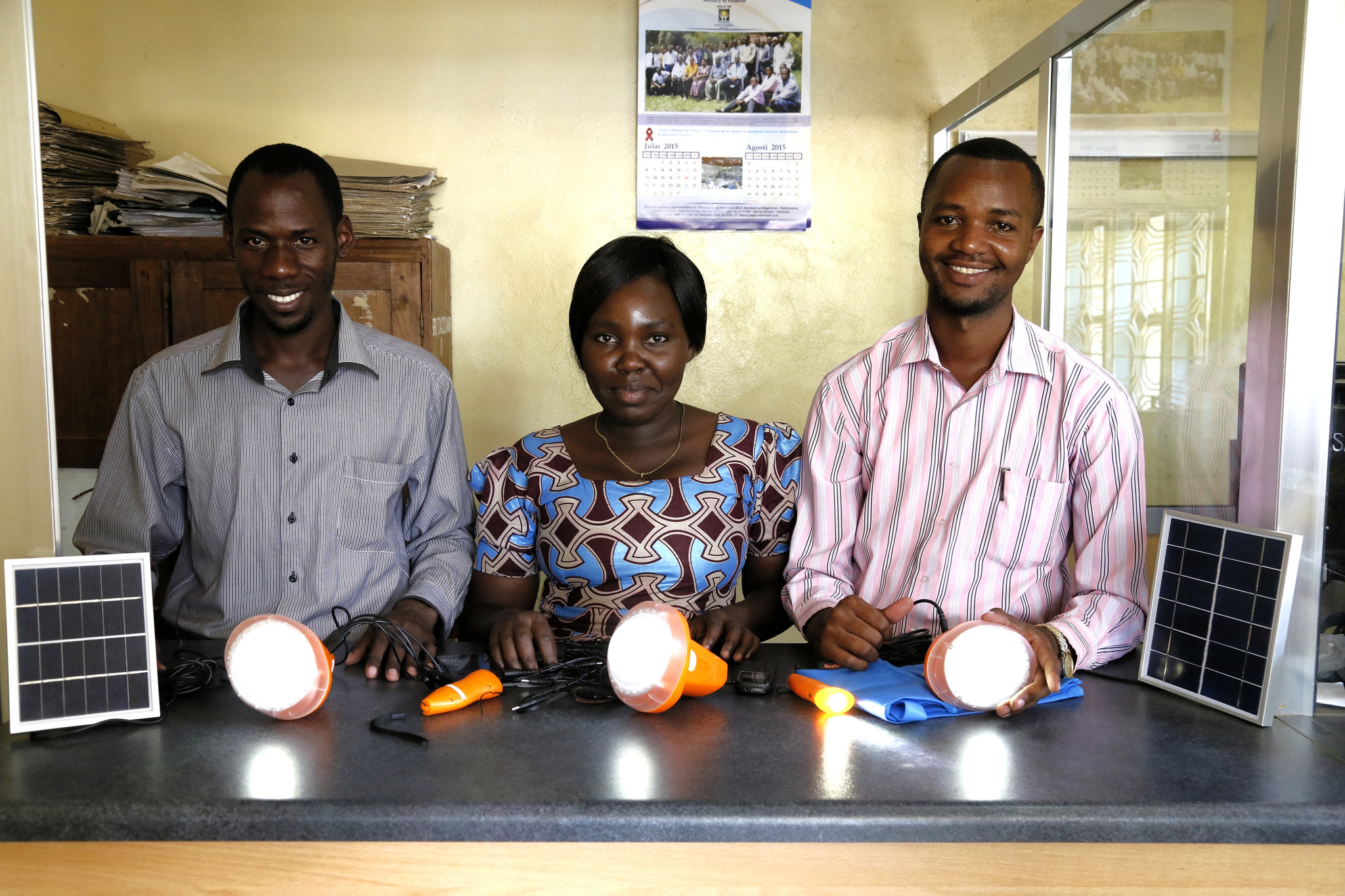 <p>Innovative financing enabled these Tanzanians to procure solar technology. Photo by DFID/Flickr</p>