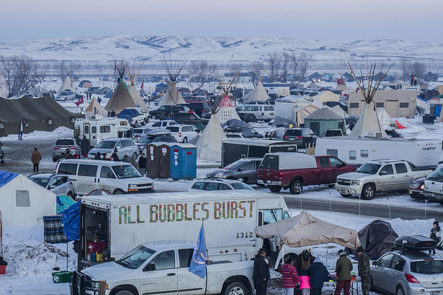 <p>Protesting the Dakota Access pipeline. Photo by Dark Sevier/Flickr</p>
