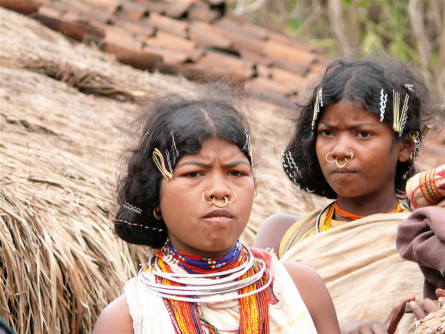 <p>Dongria Kondh women. Photo by Rita Willaert/Flickr</p>