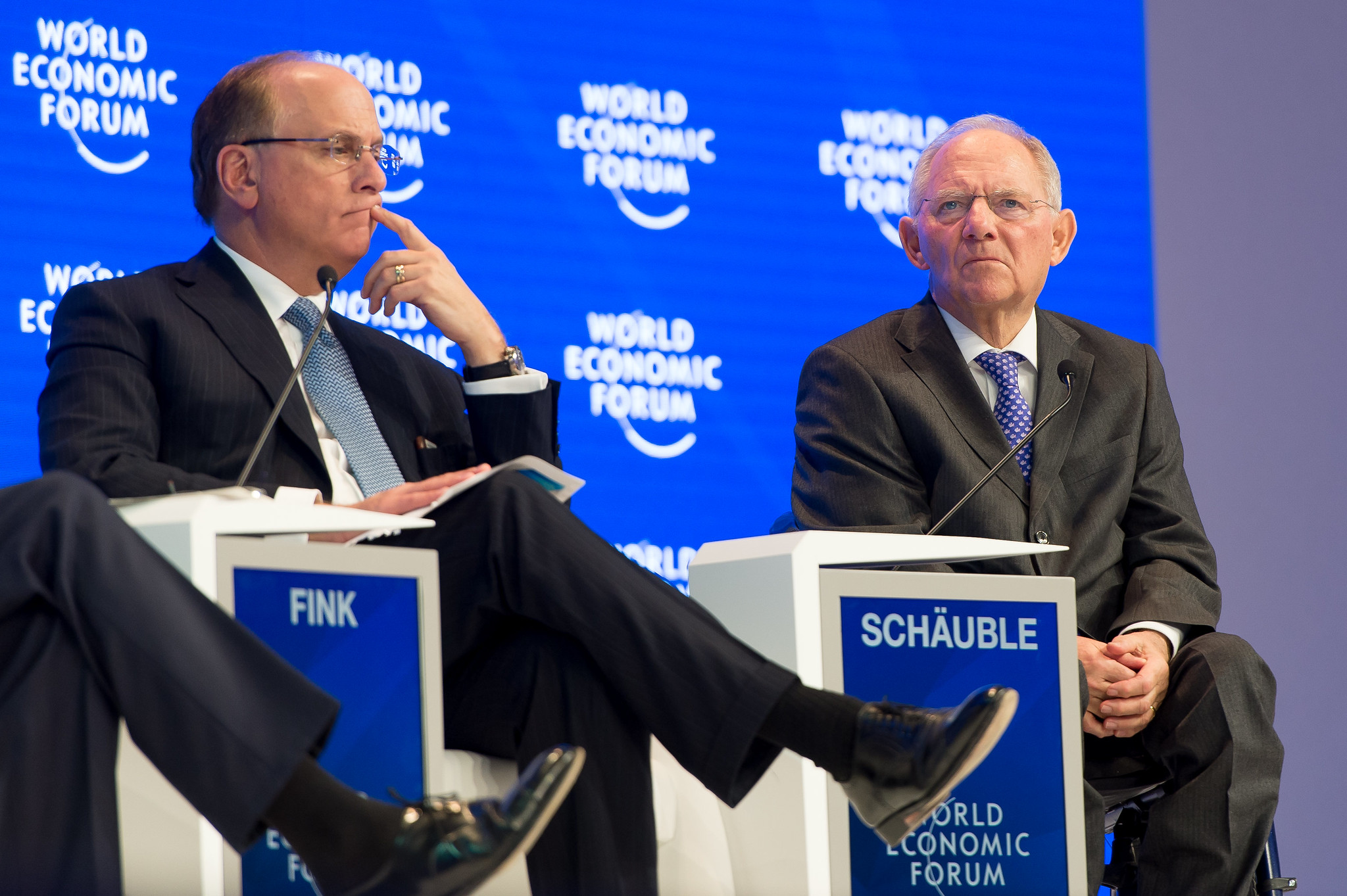 <p>Larry Fink at Davos. Flickr/World Economic Forum.</p>