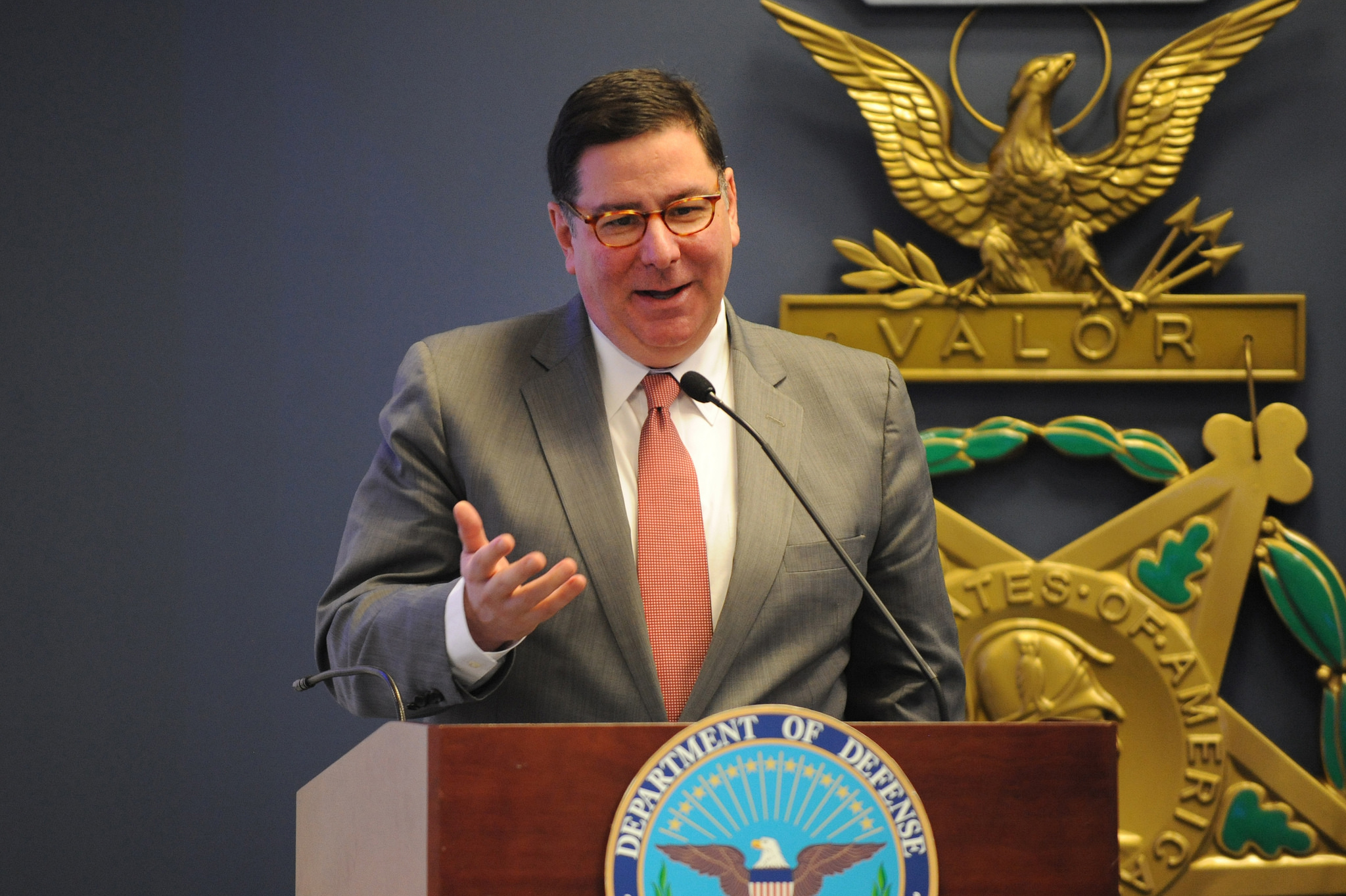 <p>Mayor Bill Peduto of Pittsburgh is sticking with Paris. Flickr/DoD News</p>