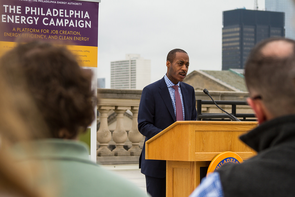 <p>Philadelphia leaders announce Solarize Philly as part of the $1 billion Philadelphia Energy Campaign. Flickr/Philadelphia City Council</p>