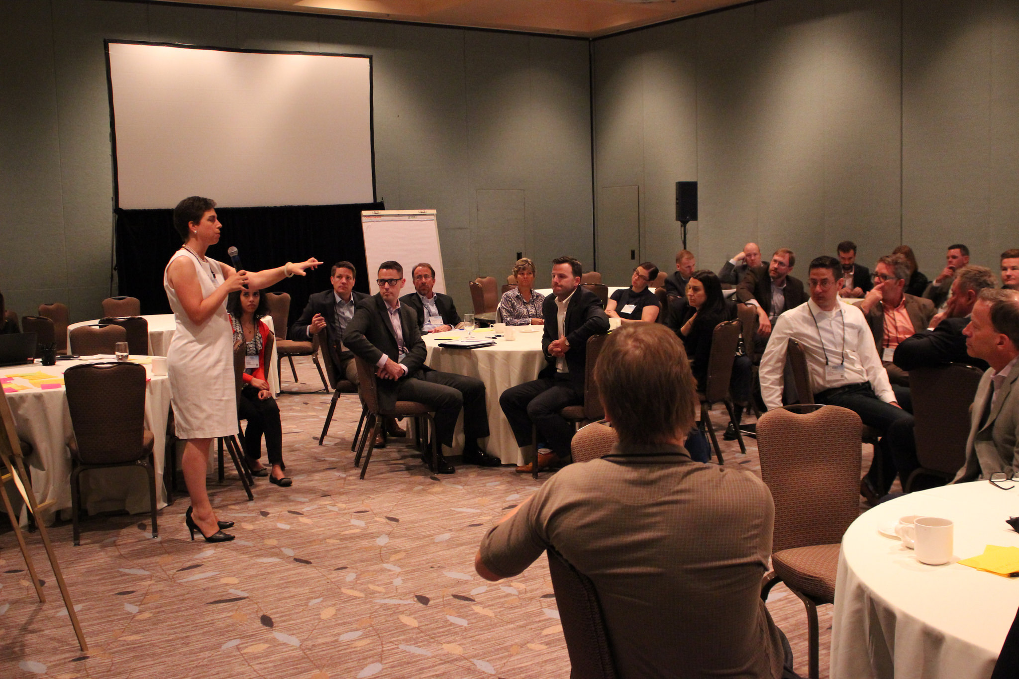 <p>Author Letha Tawney leads a utility session at the 2017 REBA Summit.</p>