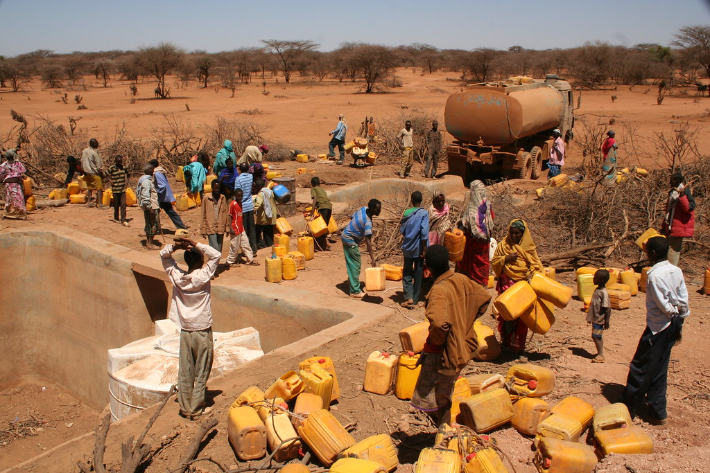 <p>Queing for water from a truck in Ethiopia. Flickr/Oxfam East Africa</p>