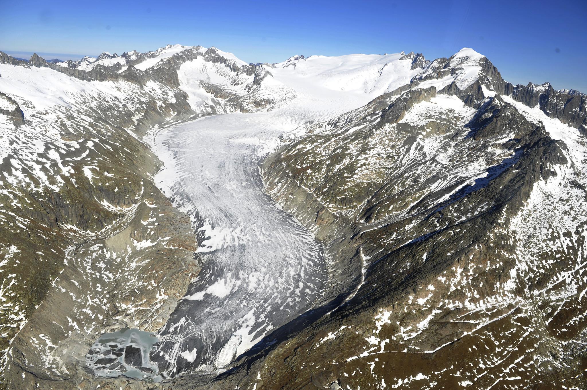 <p>One of the world\'s fastest-melting glaciers in the Alps. Flickr/UN Photo</p>