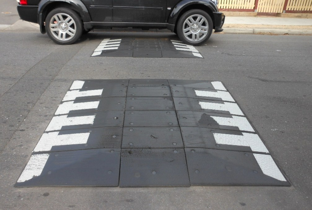 <p>Speed humps slow traffic. Flickr/Michael Coghlan</p>