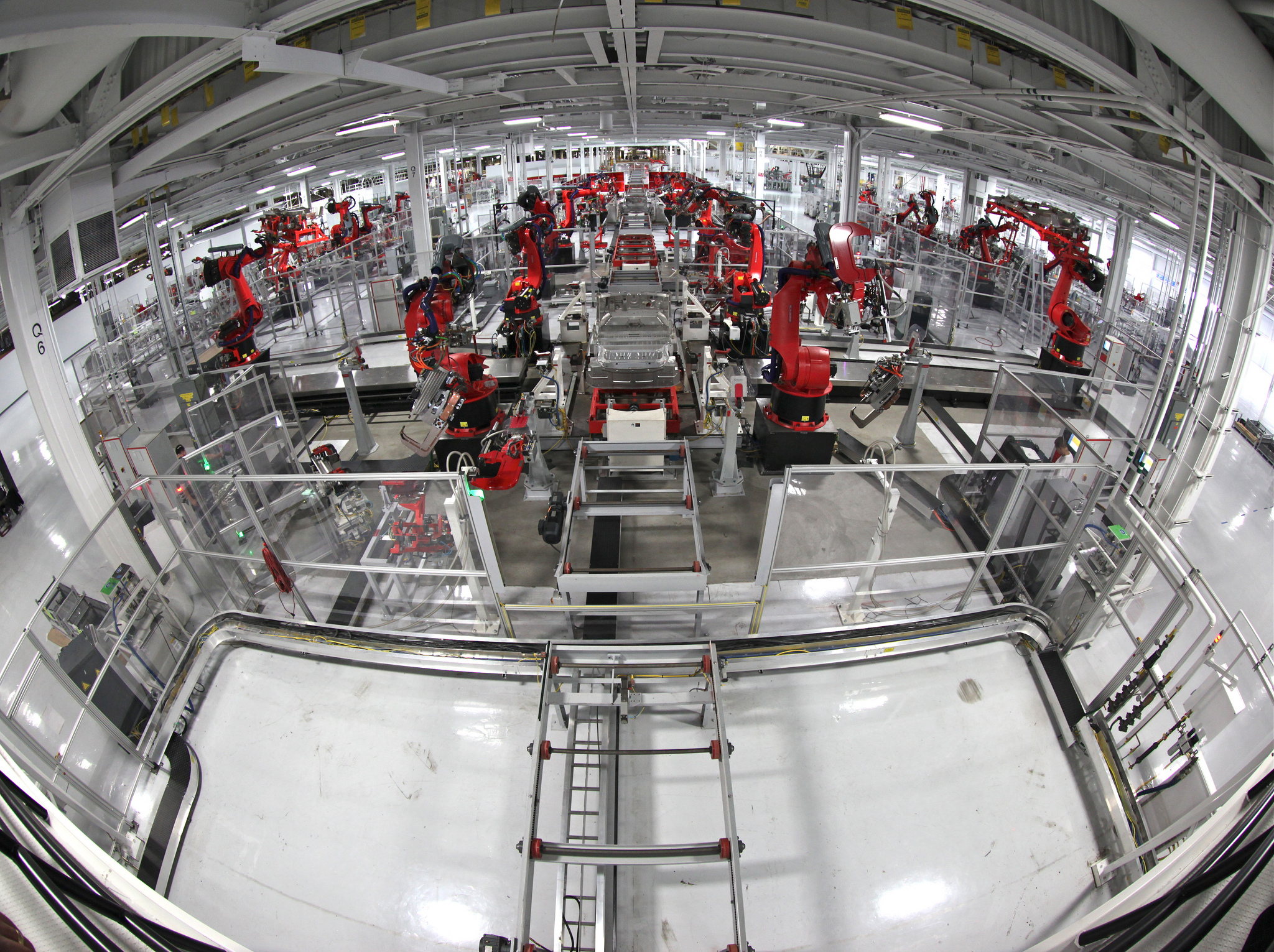<p>Stereoscopic view of the Tesla Motors assembly line. Photo by Steve Jurvetson/Flickr</p>