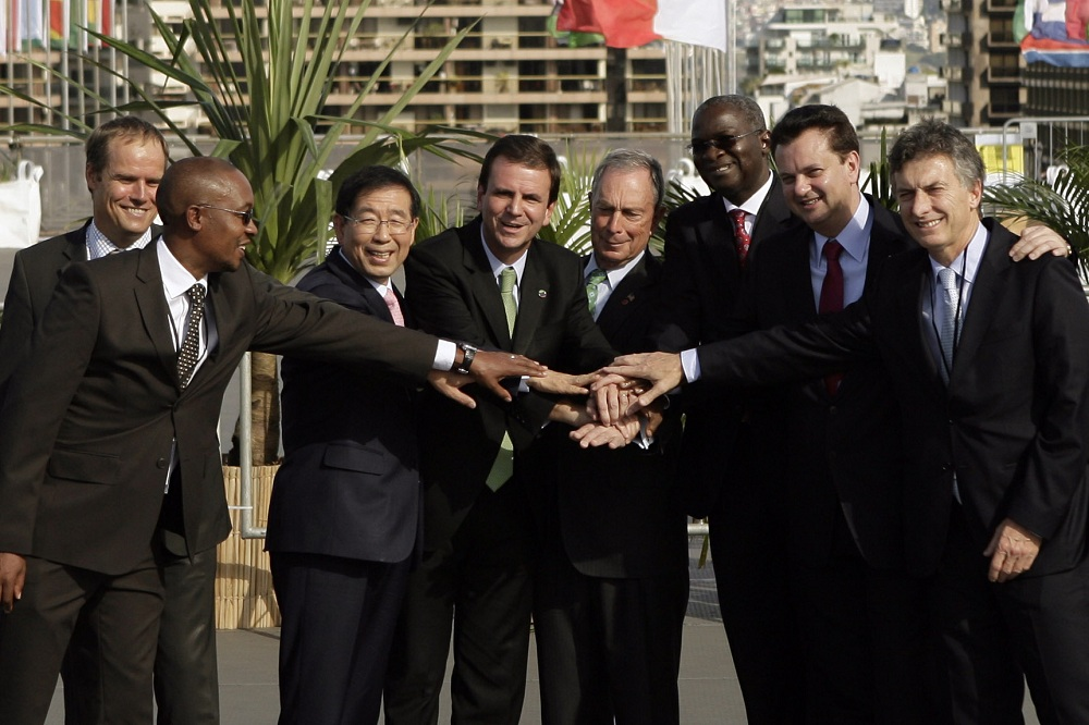 <p>Mayors from New York, Johannesburg, Seoul, Lagos, and more go in for climate action.Photo by C40 Cities/Flickr</p>