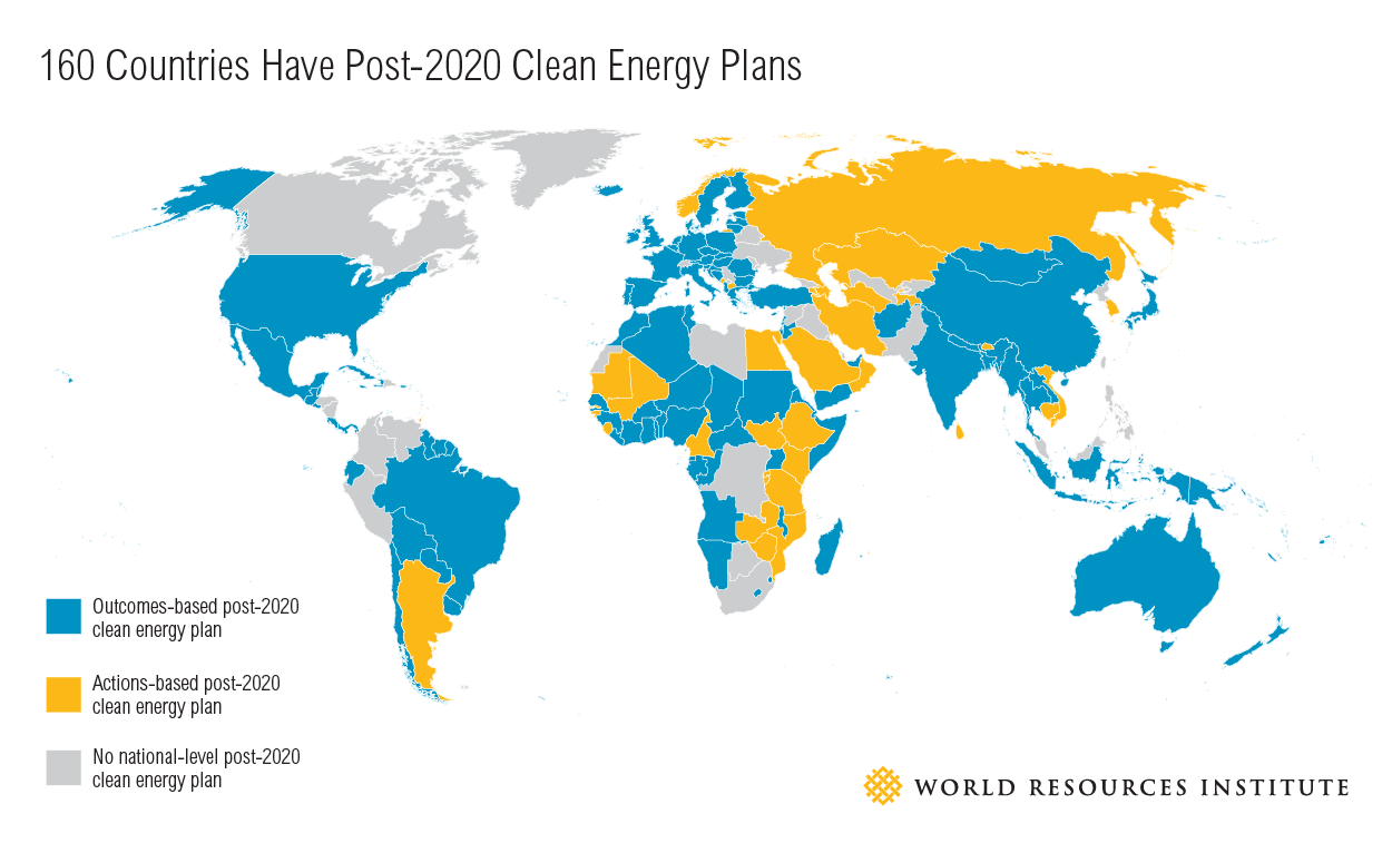 Countries Clean Energy Commitments By The Numbers World