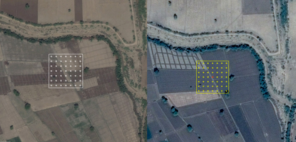 <p>The Collect Earth tool allows users to navigate between multiple windows and select the best imagery for each particular data point</p>