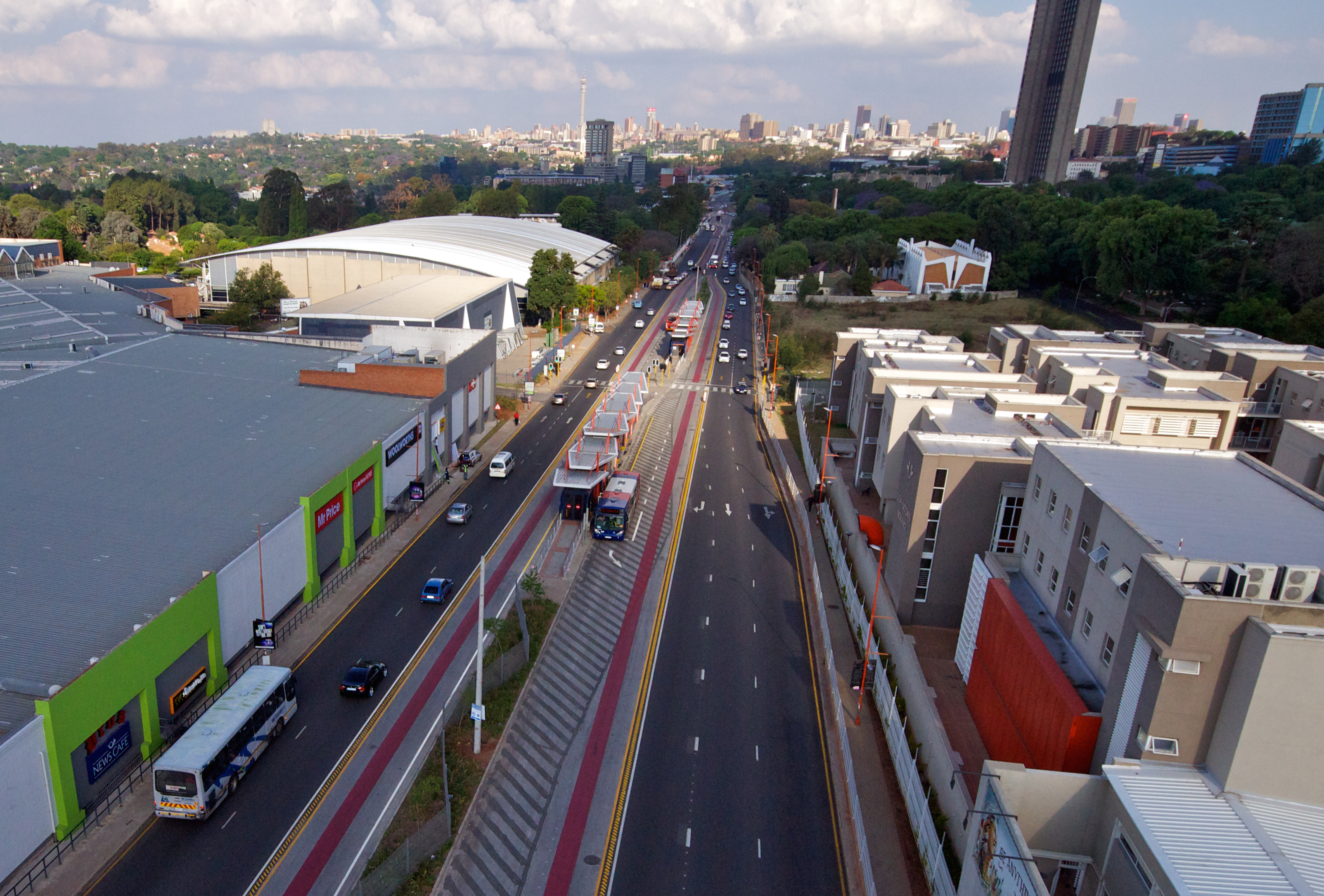 <p>Bus Rapid Transit in Johannesburg. Photo by GCRO</p>