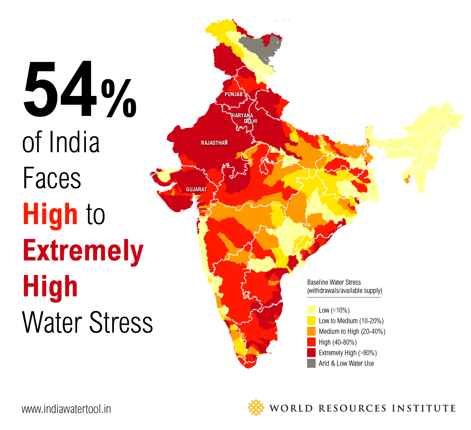 3 Maps Explain Indias Growing Water Risks World Resources Institute