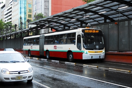 <p>Metrobus in Mexico City: One of the eleven bus systems reviewed.</p>