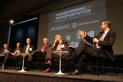 <p>The recent Transforming Transportation conference discussed ways to scale up sustainable transport systems across the world.</p>