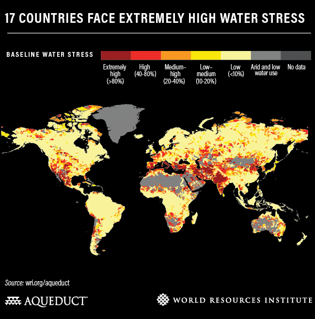 A Fourth of the World's Population Faces Severe Water Shortages