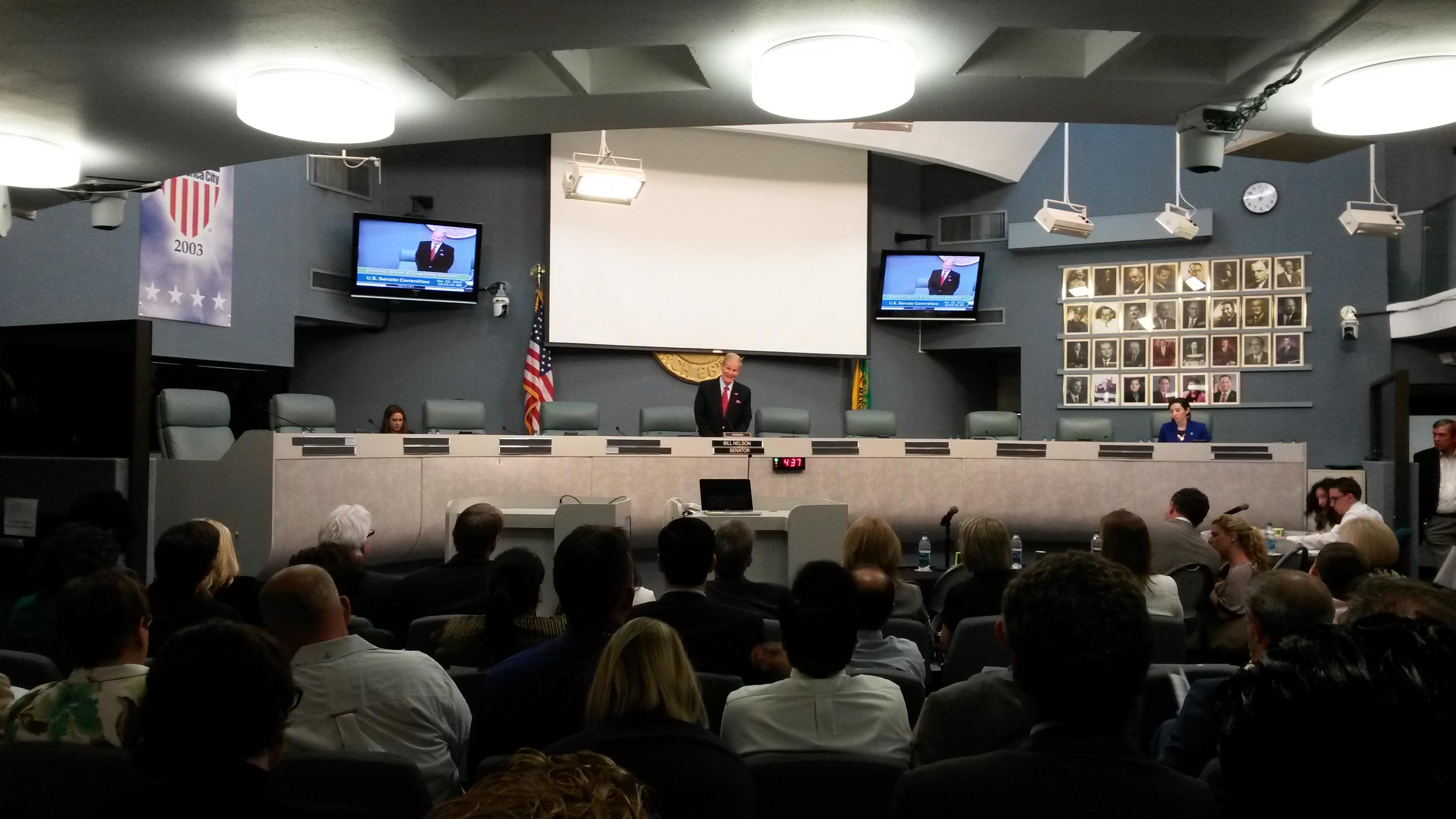 <p>Senator Bill Nelson; Miami, FL. Photo Credit: Rhys Gerholdt/WRI</p>