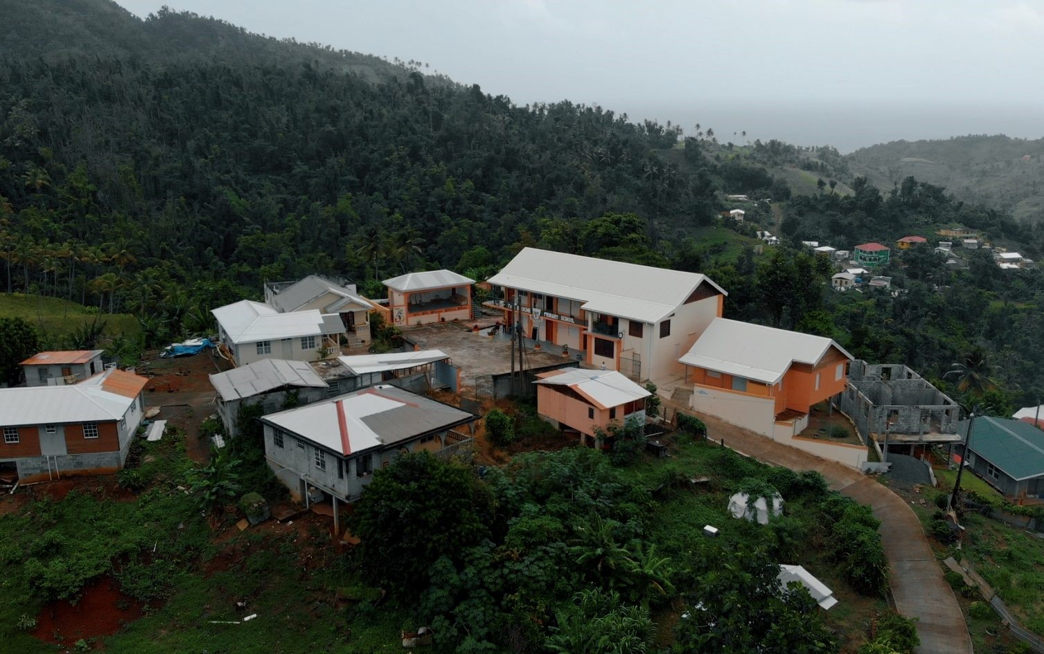 <p>A school in Dominica rebuilt after Hurricane Maria. Photo by Tom Kucy/Clara Lionel Foundation.</p>