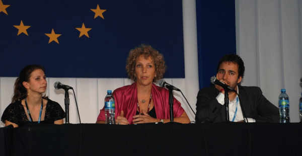 <p>Kelly Levin, Jennifer Morgan, and Arvinn Gadgil at the World Resources Report Side Event, COP-16, Cancun, Mexico, Dec 7, 2010. Photo credit: Michael Oko, WRI.</p>