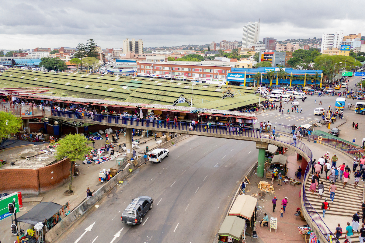 <p>The Music Bridge in Durban\'s Warwick Junction marketplace. Photo by Kyle Laferriere</p>
