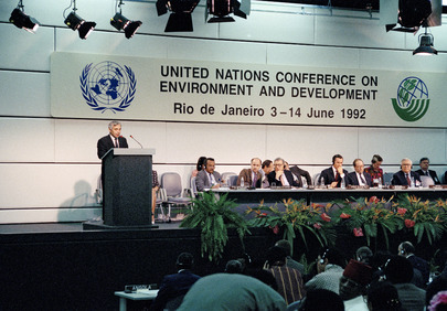 <p>The U.N.\'s first Rio Earth Summit was held 20 years ago. Photo credit: Michos Tzovaras, United Nations</p>