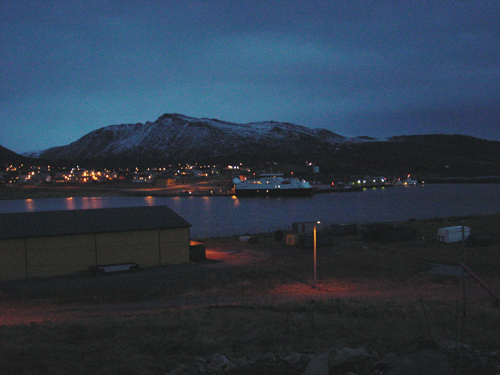<p><strong>Hasvik, Norway (December 2007).</strong> Downtown Hasvik at lunchtime. Source: Ian Fossberg.</p>